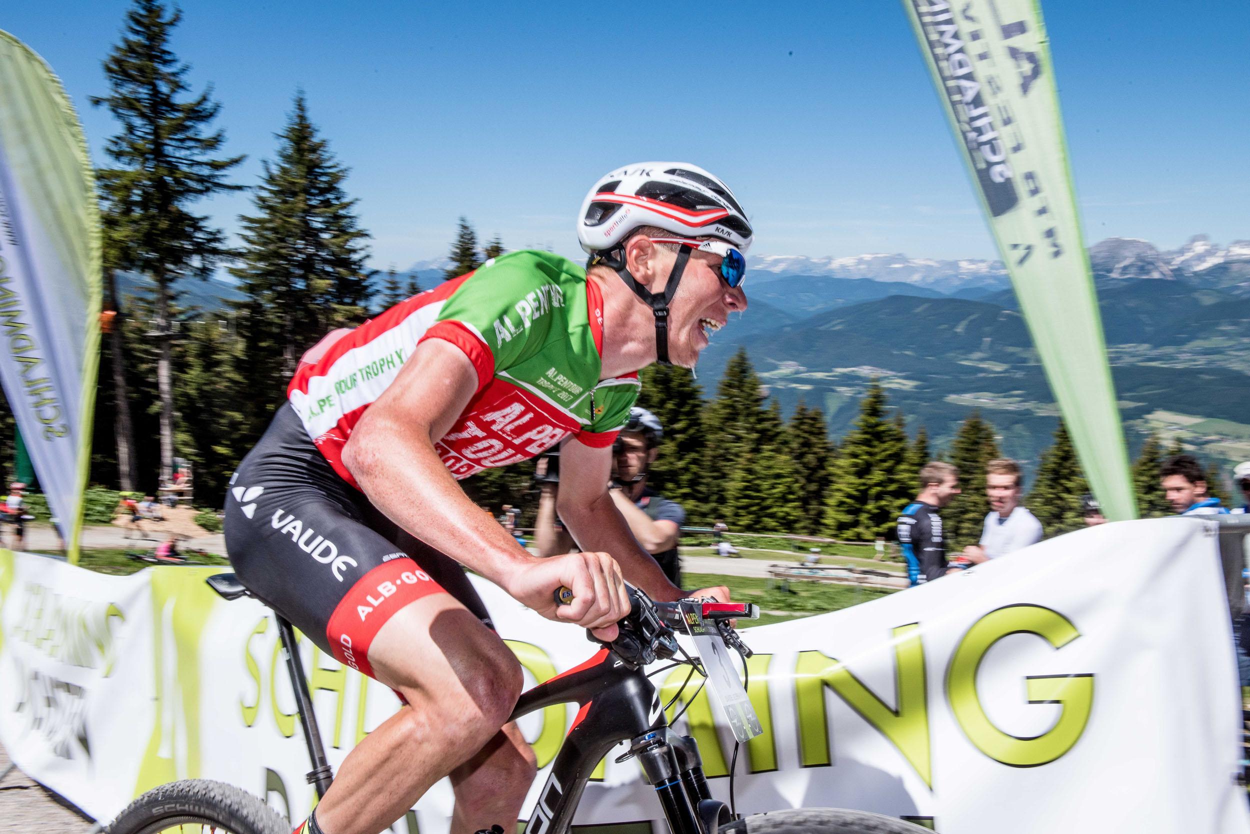 Daniel Geismayr Sekunden vor seinem Gesamtsieg.
