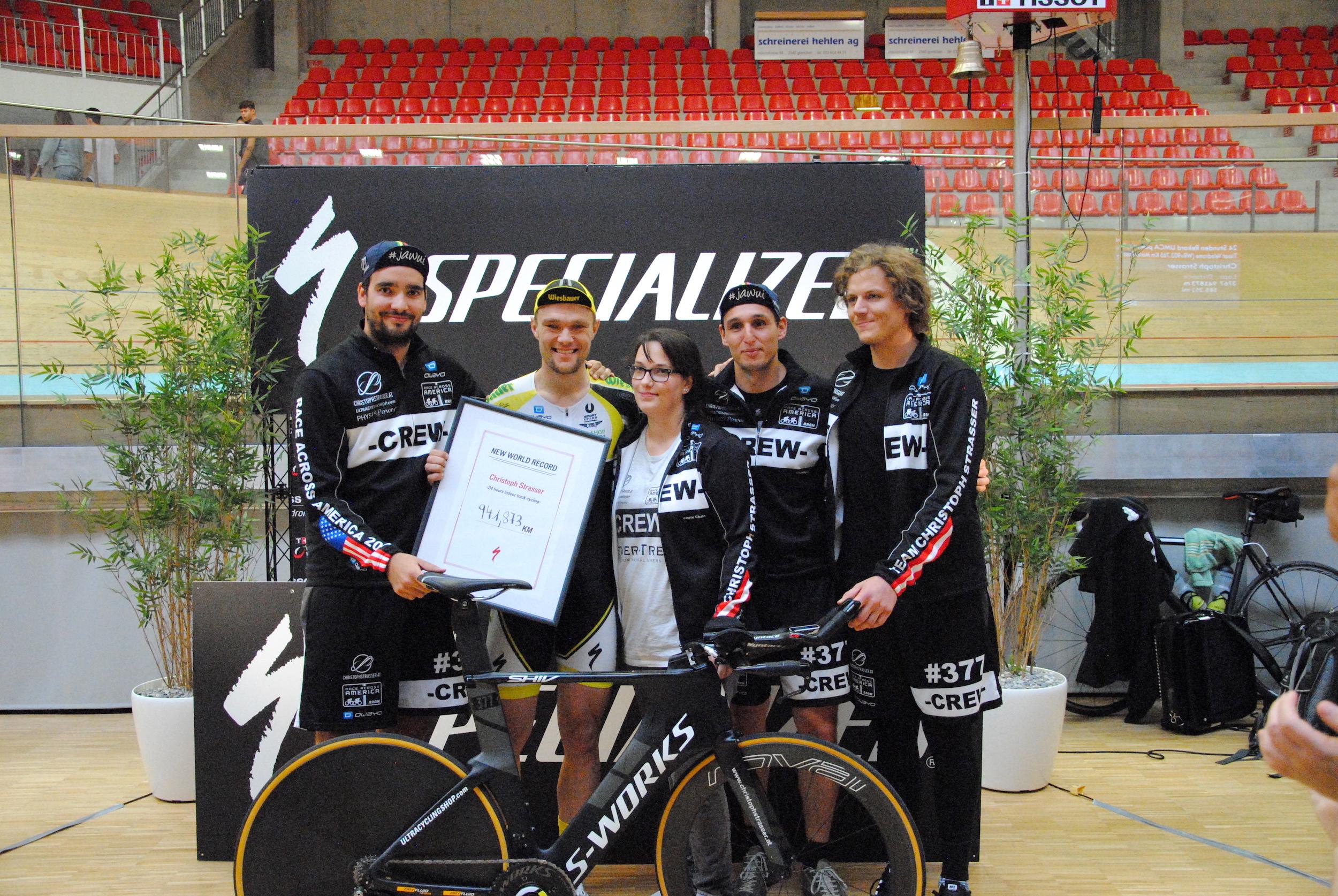 Strasser und sein Weltrekordteam.