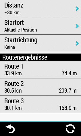 Round-Trip-Routing am Garmin Edge
