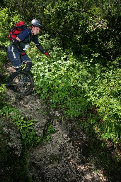 Einrad Downhill