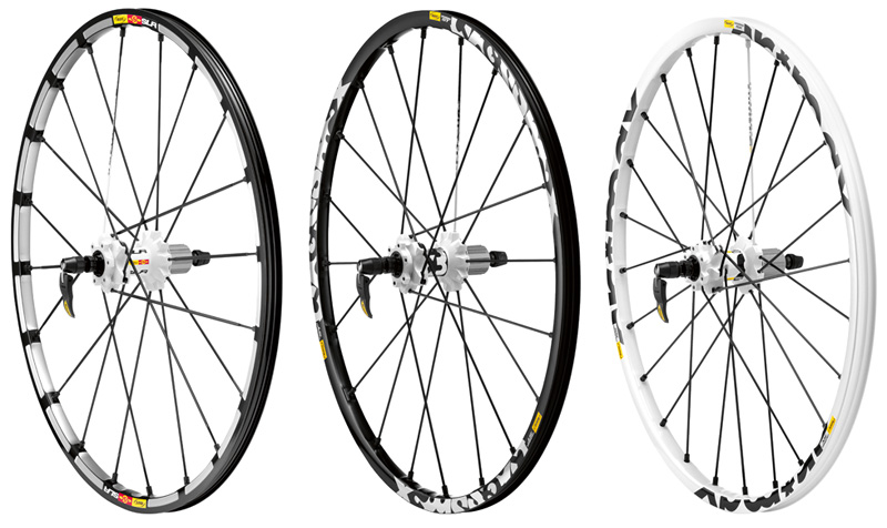 Crossmax HinterräderSLR, ST & SX (v.l.n.r.)