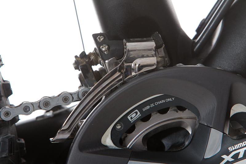 Bashguard, Kettenblätter und E-Type Umwerfer bilden eine Einheit