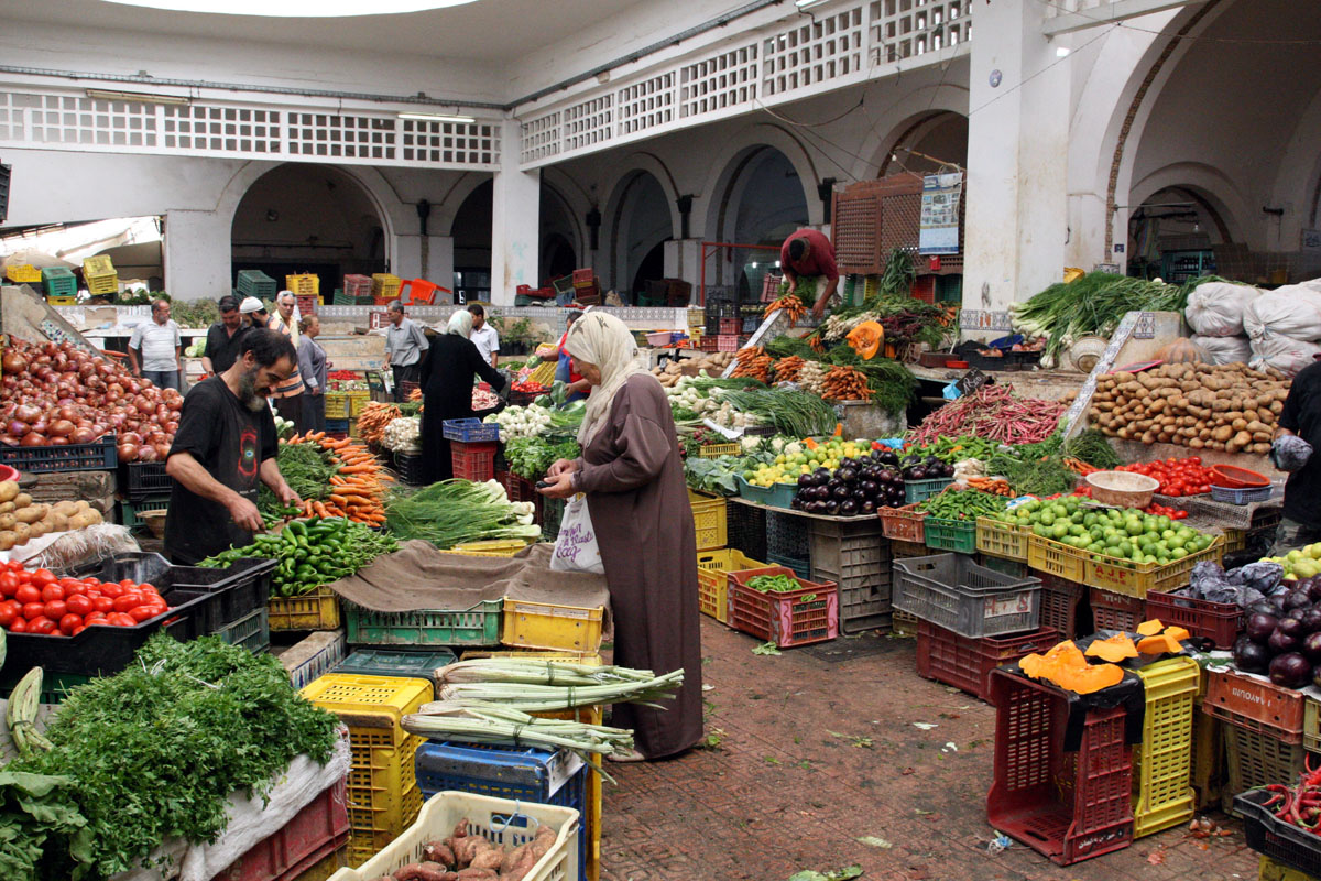 In der Markthalle von Bizerte