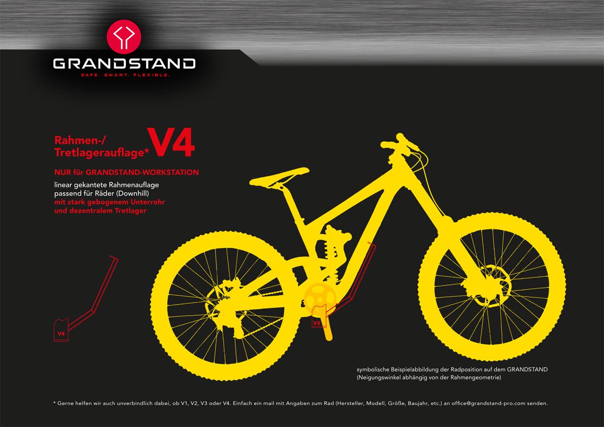 V4 passend für Räder mit stark gebogenen Unterrohr und dezentralem Tretlager (Downhill)