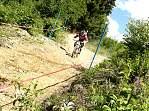 gleich auf den ersten Metern extreme Steilpassagen mit High-Speed