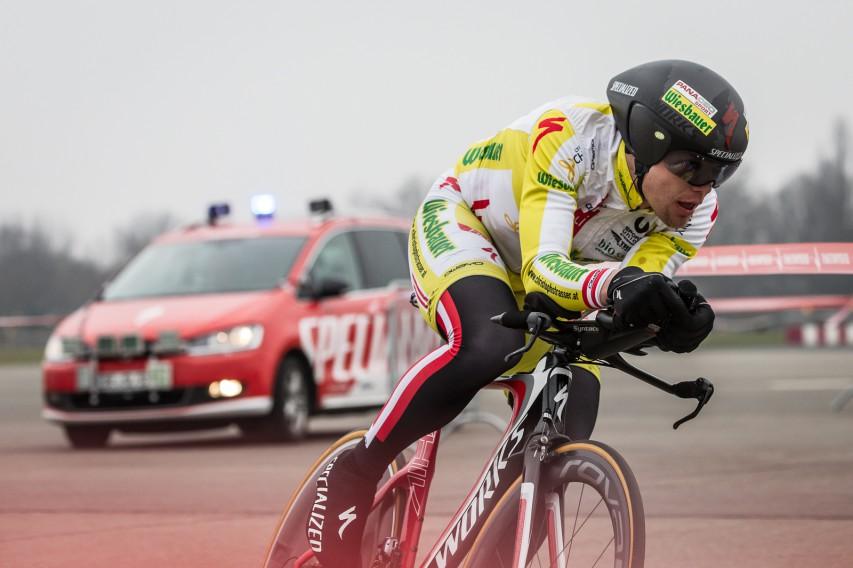 Strasser bei seinem letzten 24h-Weltrekord ...