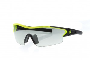 Black matt/neon yellow / grey light sensitive + clear