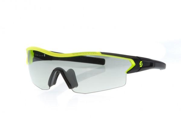Black matt/neon yellow / grey light sensitive + clear