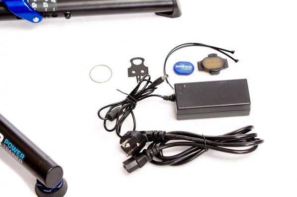Wahoo RPM Kadenz Sensor, Netzadapter für 110/220V, Scheibenbremsen-Transportsicherung, 1,88 mm Spacer für 10-fach Kassetten
