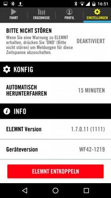 Auto-Shutdown und Anzeige der Firmware- und Geräte-Version