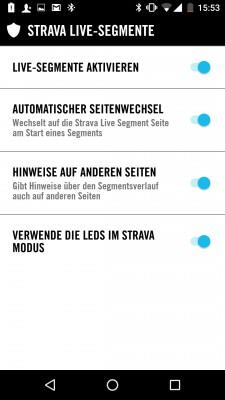 Vorbildliche Strava-Integration.