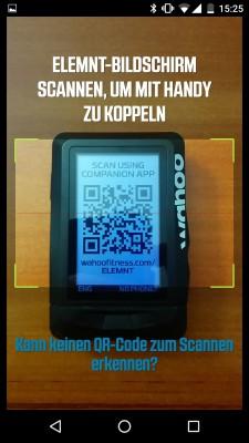 QR-Code mit dem Handy abfotografieren - Pairing done.