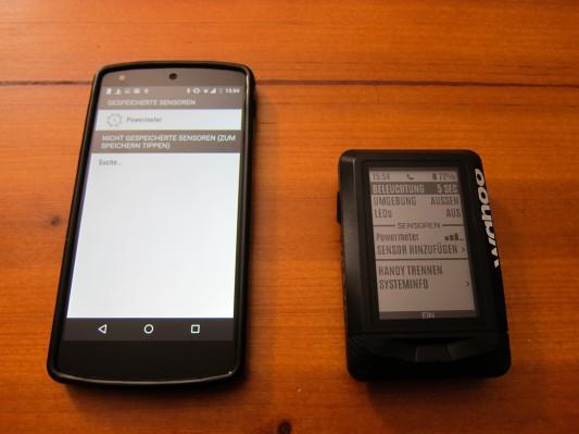 Sensoren können sowohl über die App, als auch mit dem Elemnt alleine hinzugefügt werden. Wichtig ist aber, dass sich der Radcomputer in der Nähe des Sensors befindet, da das Smartphone meistens keine ANT+ Signale empfangen kann.