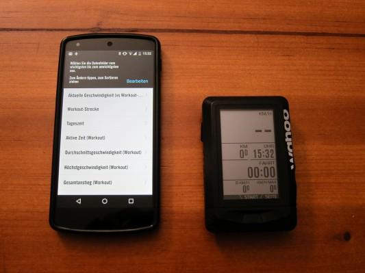 """Konfiguration des Workout-Screens: Mit dem Druck auf """"Bearbeiten"""" geht es los..."""