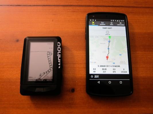 Die Route wird auf der Karte mit Pfeilen markiert ...