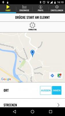 """Beispiel einer """"Route me anywhere-Navigation"""""""