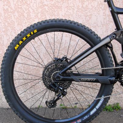 Der Giant GE35 Disc-Laufradsatz wird am Hinterrad mit dickeren Speichen an die Belastungen am E-Bike angepasst.