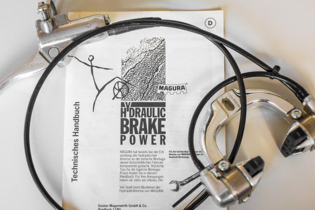 1987 baute Magura mit der Hydro Stop die erste hydraulische Felgenbremse für Fahrräder.