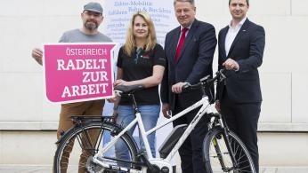 Österreich radelt zur Arbeit