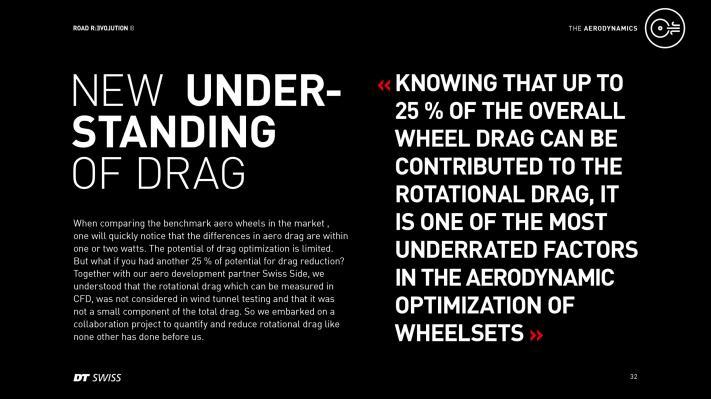 Total Drag = Translationsluftwiderstand (75%) + Rotationsluftwiderstand (25%)