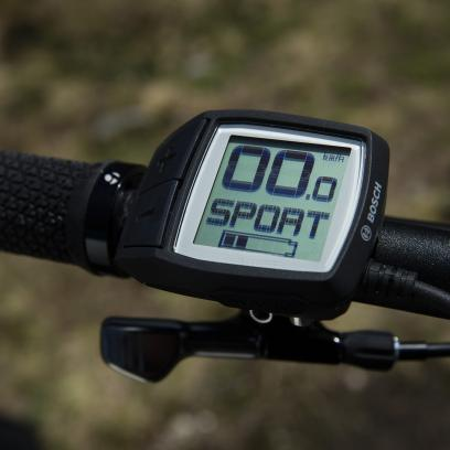 Alle Bikes besitzen das kompakte Bosch Purion-Display und werden mit dem neuen eMTB-Modus ausgeliefert.