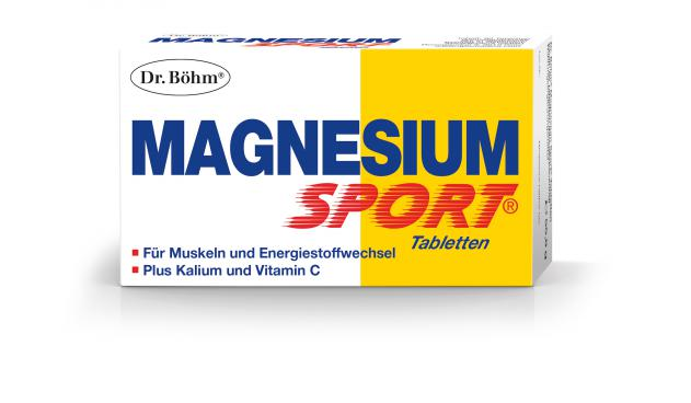 Dr. Böhm® Magnesium Sport® Tabletten: Tabletten zum Schlucken, 150 mg Magnesium. 2 x täglich unzerkaut, nach einer Mahlzeit.