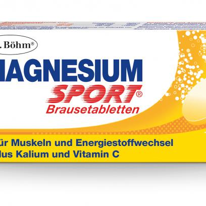 Dr. Böhm® Magnesium Sport® Brausetabletten: Zum Auflösen im Wasser, 150 mg Magnesium. 2 x täglich eine Brausetablette.