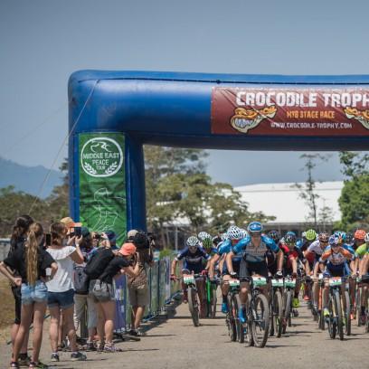 Rennstart im Smithfield MTB Park in Cairns