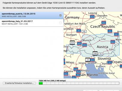 Upload der OpenMTBMap via Garmin Map Installer