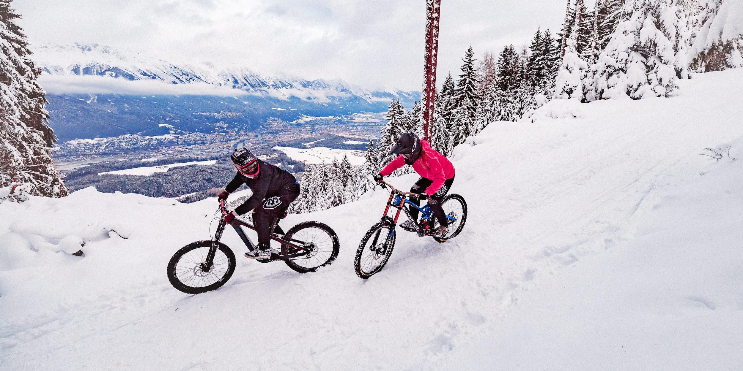 Winter-Rides im Bikepark Innsbruck