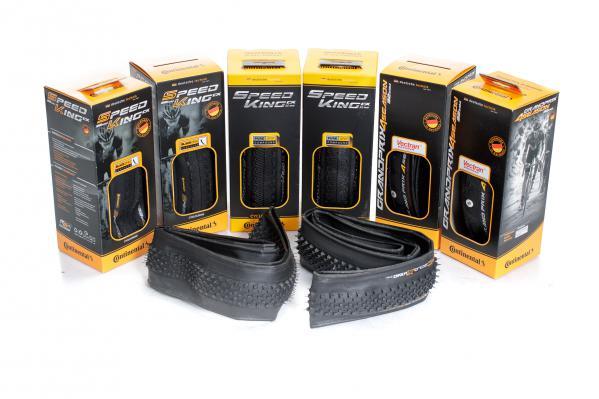 Zur Wahl standen die CycloXKing 32, SpeedKing CX 32, SpeedKing CX 35 und GP 4Season 32 - allesamt von Continental