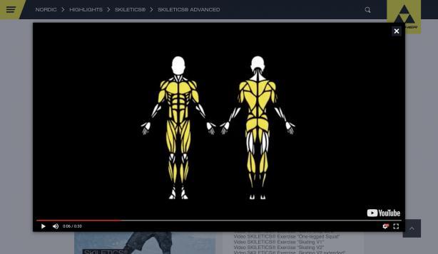 Jedes der Videos zeigt die beanspruchten Muskelgruppen - ziemlich viel, oder?