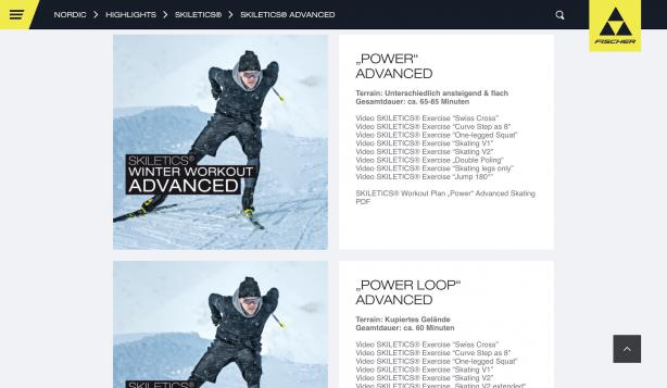 Ob Klassisch oder Skating - für jeden Plan sind die Technik-Übungen in selbsterklärender Video-Form verfügbar.