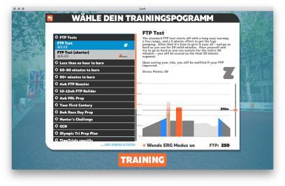 Wähle dein Trainingsprogramm (inklusive Watt-Werten und Erklärung)