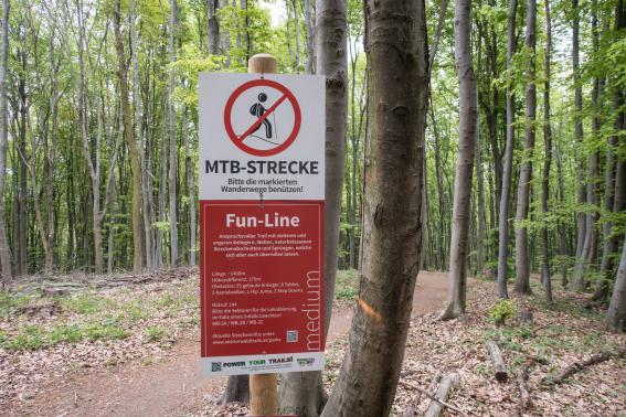 Damit die Trails, ob gebaut oder natürlich, ...