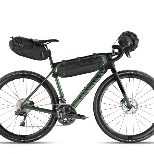 macht das Gravel-Bike zum reisetauglichen Adventure-Bike.