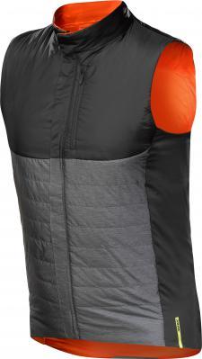 Allroad Insulated Vest Asphalt/Puff Bill: Wendbare, leicht gefütterte Weste aus Primaloft Sport, die locker in die Trikottasche passt.