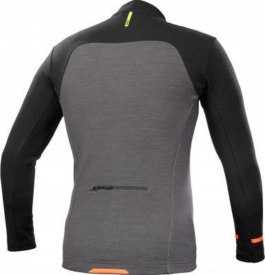 Allroad Thermo LS Jersey Black/Asphalt: Active Merino Wolle reguliert die Körpertemperatur und trocknet schneller, sehr weich und warm. UVP € 190,-