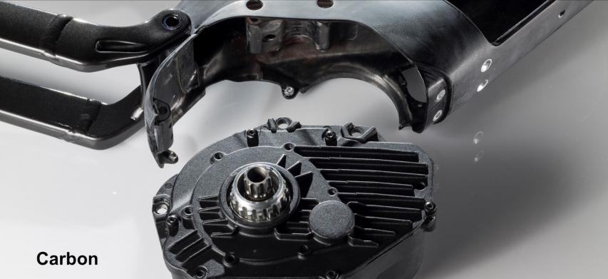 Motoraufhängung des Powerfly LT Carbon VS