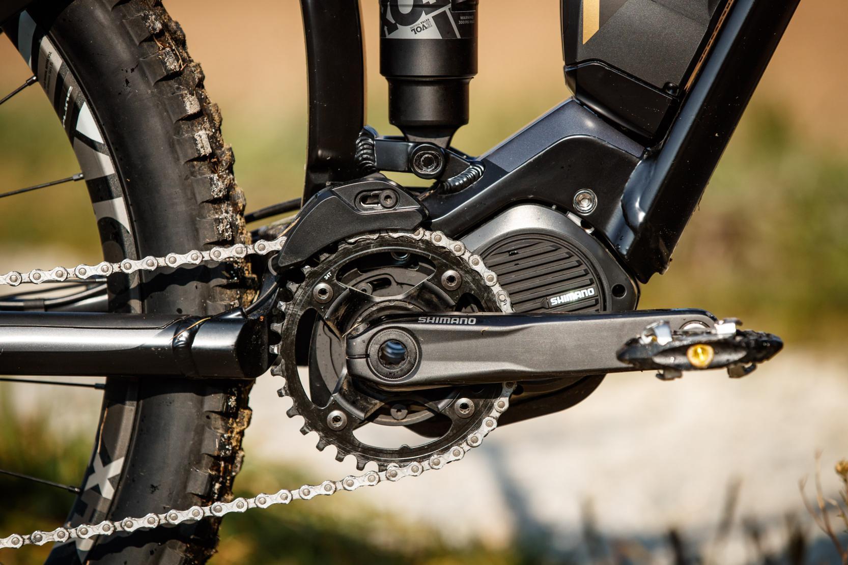 #4 Der leichte und kompakte E8000-Motor ermöglicht die 439,5 mm kurzen Kettenstreben und bietet Platz für eine Kettenführung.