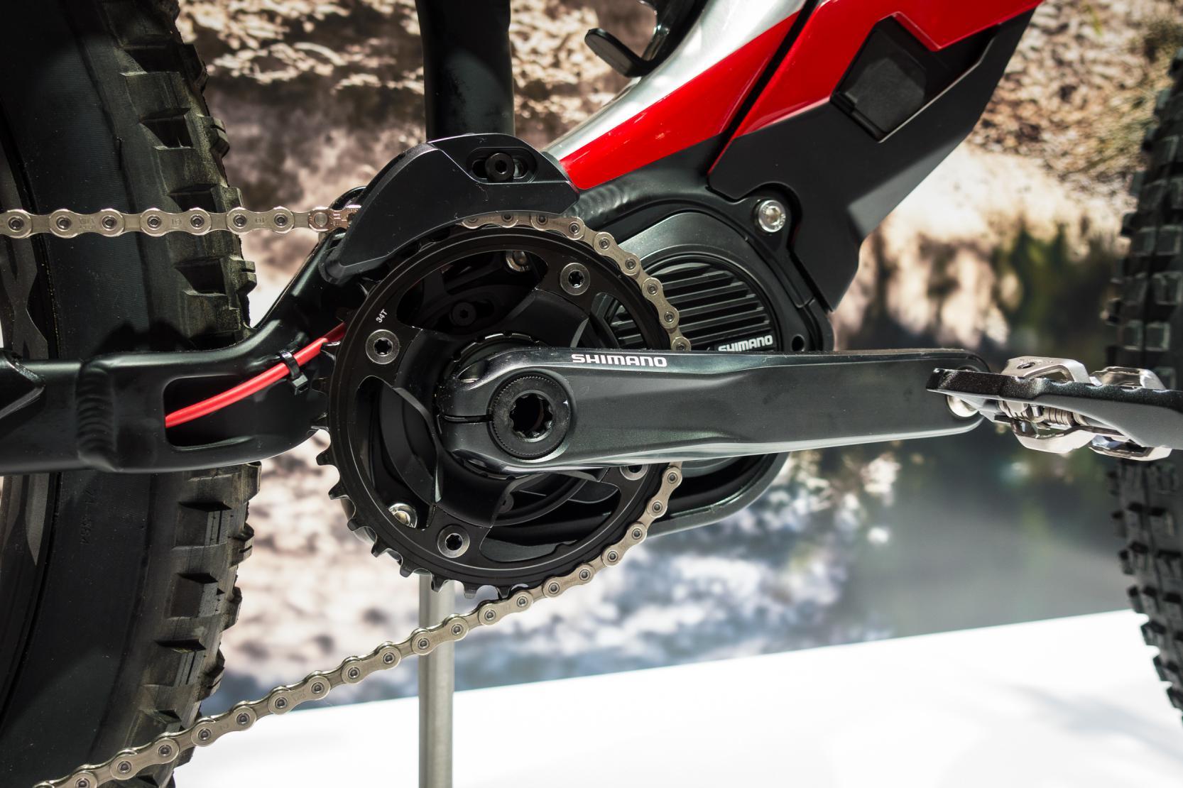 #2 Shimano Steps E8000 Motor (250 Watt bei einem Drehmoment von 70 Nm) inkl. 504 Wh Batterie