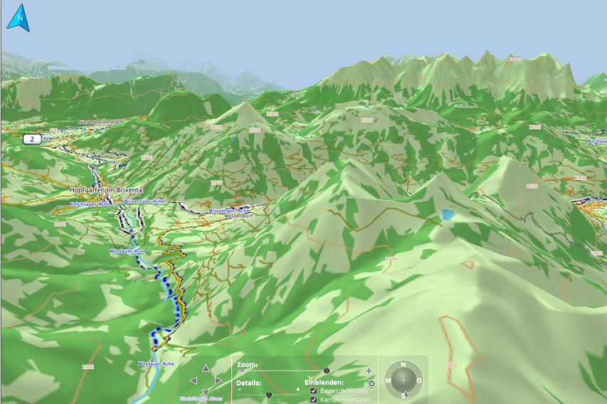 Tourenplanung hier mit Garmin Basecamp und der Openfietsmap Alps