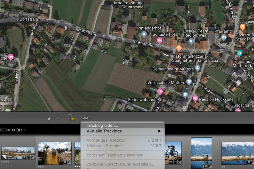 Synchronistation der GPS-Daten mit Fotos in Adobe Photoshop Lightroom