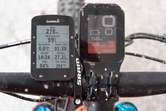 27 km, 400 hm mit 44% Akku
