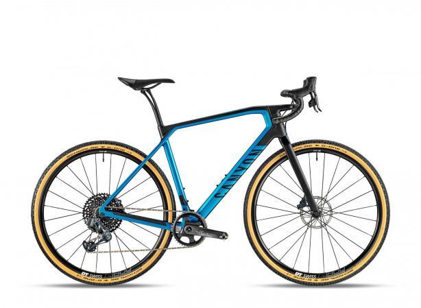 Canyon Grail CF SL 8.0 eTAP in Discovery Blue. 3.499 Euro