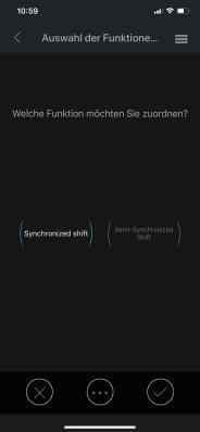 """Für S1 wähle ich """"Synchronized Shift"""" und für S2 den """"Semi-Synchronized Shift""""."""