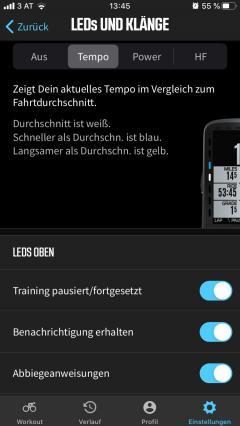 den LEDs lässt sich alles am Smartphone einstellen.