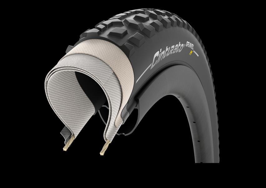 Pirelli Cinturato Gravel M für Mixed Terrain Offeneres Profil mit ausgeprägteren, flachen Stollen für gemischte Untergründewie Waldböden und Wanderwege auf kompakter Erde sowohl unter trockenen als auch unter nassen Bedingungen.