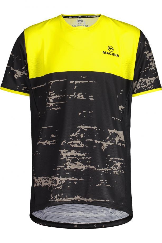 Magura YellowCamo Freeride Jersey -Locker geschnittenes Kurzarm-Shirt aus schnell trocknendem Moondry-Material und kühlendem Mesh. Dank Polygiene angeblich dauerhaft geruchsfrei. 80 Euro