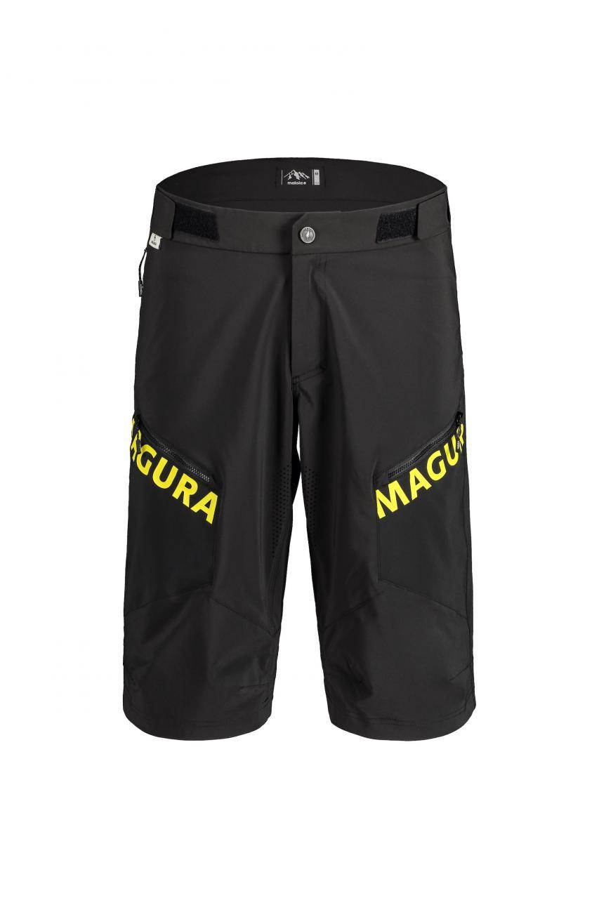 Magura Yellow Freeride Short -Ergonomisch vorgeformte Short mit längerem Schnitt und perfekt mit Knieschonern zu tragen. Dank Spandex Multistretch und Weitenregulierung am Bund auch äußerst flexibel und nachgiebig. 180 Euro